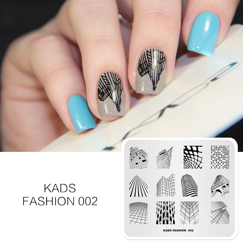 Rolabling 1pc New Arrival Fashion 002 Skyscraper Marvellous Building Stencil Nails Tool Template Image Plate Nail Art Stamp