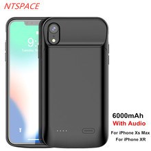 6000mAh New Fashion Battery Charger Case For iPhone XR Power Portable Backup Bank Xs Max