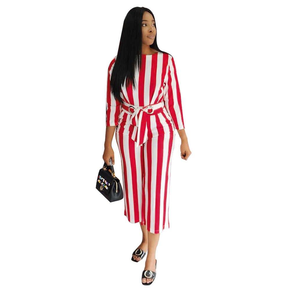 المرأة الأحمر الأبيض مخطط وزرة حللا الزنانير الزي س الرقبة مخطط طباعة الشتاء الخريف النساء عارضة مثير الأزياء السروال القصير