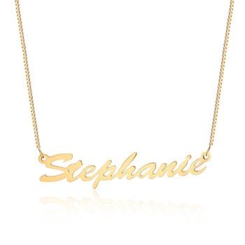 9db751b50408 De fuente personalizado cursiva nombre collar gargantilla para mujeres  Bijoux de acero inoxidable de Color oro y plata personalizada nombre  personalizable ...