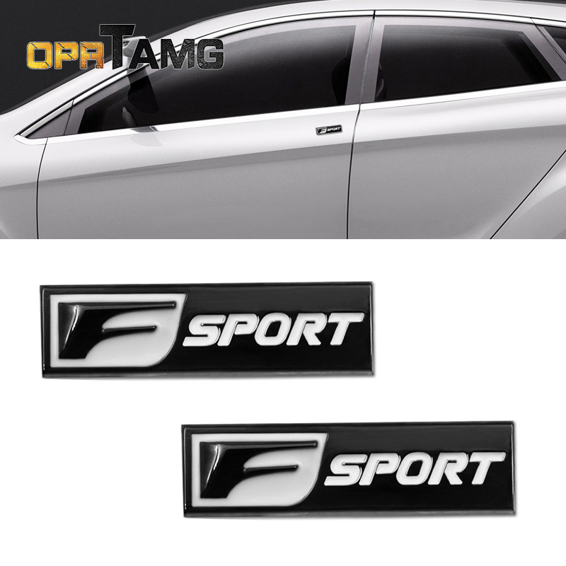 2pec/set F Sport Fsport Metal Emblem Badge Car Stickers rear Trunk Decals For Lexus RX ES IS IS200 RX330 Car-Styling Accessories
