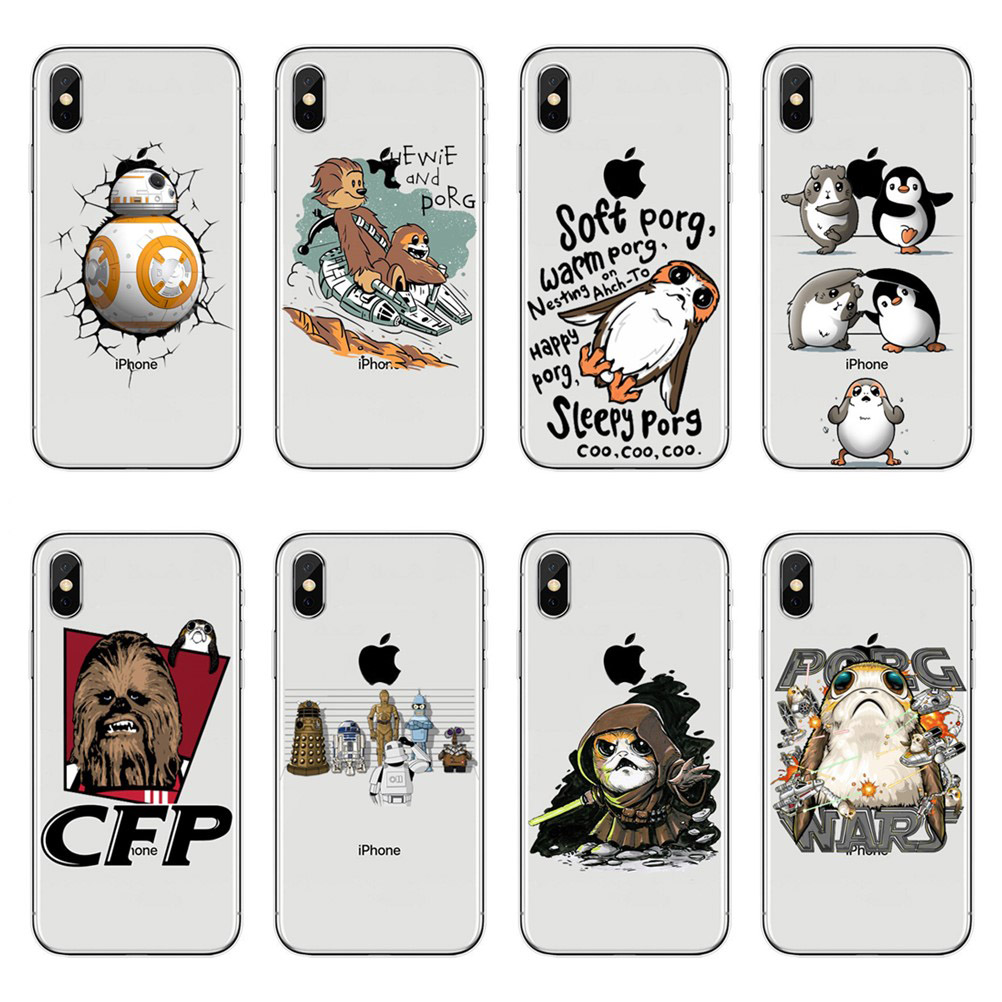 For iPhone X 10 5.8 Soft TPU Star Wars seabirds Phone Case For iPhone 6 6S 7 8 Plus 5 5S SE XS XR XS MAX Clear Silicone Cover image