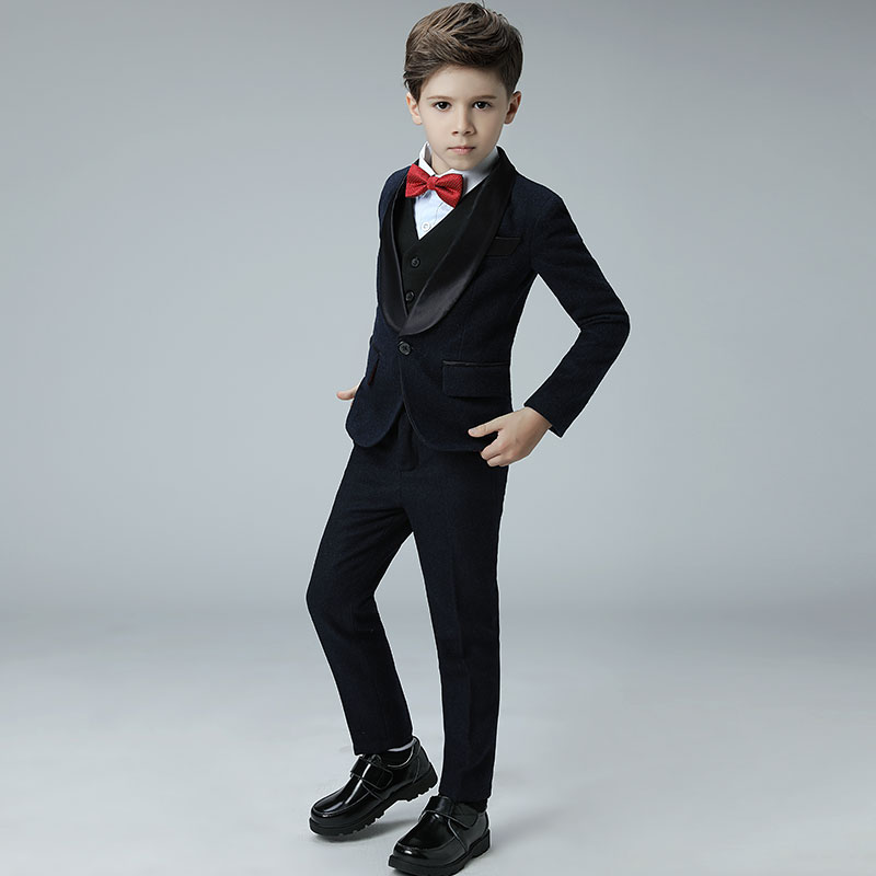 Boys Suits For Weddings Kids Tuxedos Stamping Printing Outfits ...