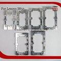 2 pcs liga de alumínio do metal alinhamento moldes para lenovo s850 telefone Molde Fixo Substituir LCD Cola UV OCA Laminado De Vidro Molde titular