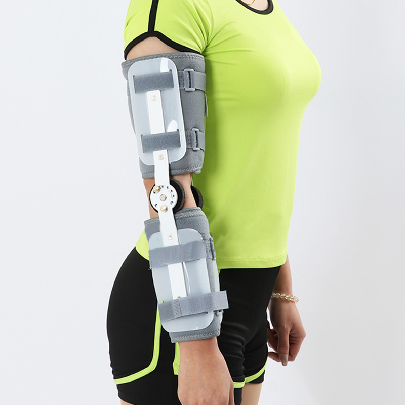New External Fixed Support Adjustable Elbow Brace Support Orthosis Device Brace Support For Left Or Right Hand Grey Unisex S/L 5gbp s new elbow design left