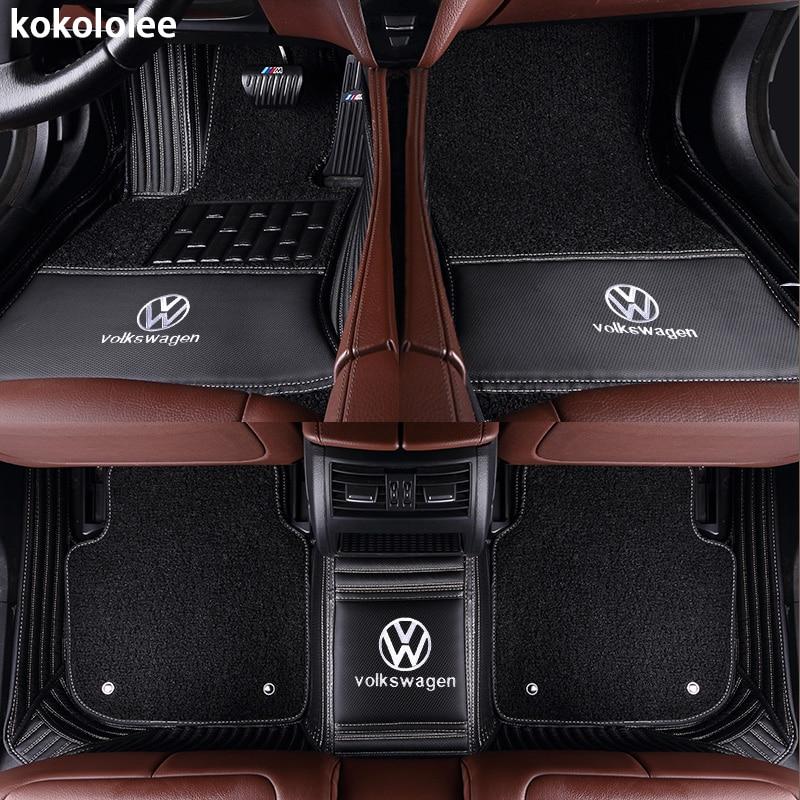 Kokololee Personnalisé de voiture tapis de sol pour Volkswagen Tous Les Modèles vw passat b5 6 polo de golf tiguan jetta touran touareg voiture styling auto - 4