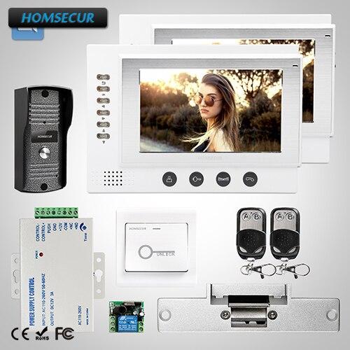 HOMSECUR 7 Video&Audio Home Intercom+Metal Case Camera for Home Security 1C2M
