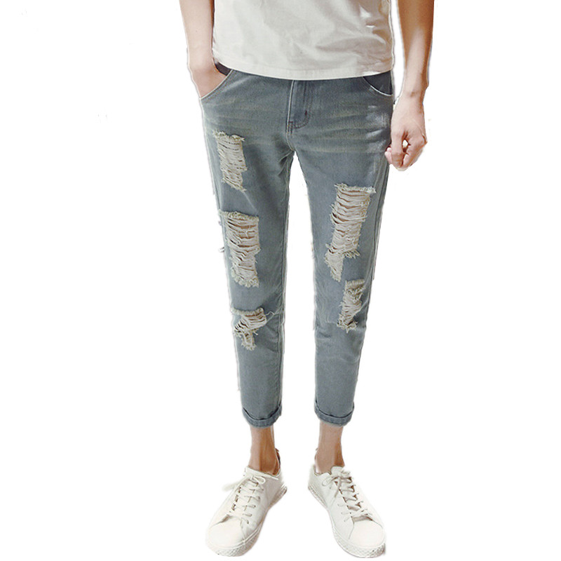 Y2003-YG6124 Cheap wholesale 2017 new Cultivate one's morality men's trousers and feet hole harlan jeans 9 minutes of pants noonan morality of abortion legal and historic al perspectives pr only