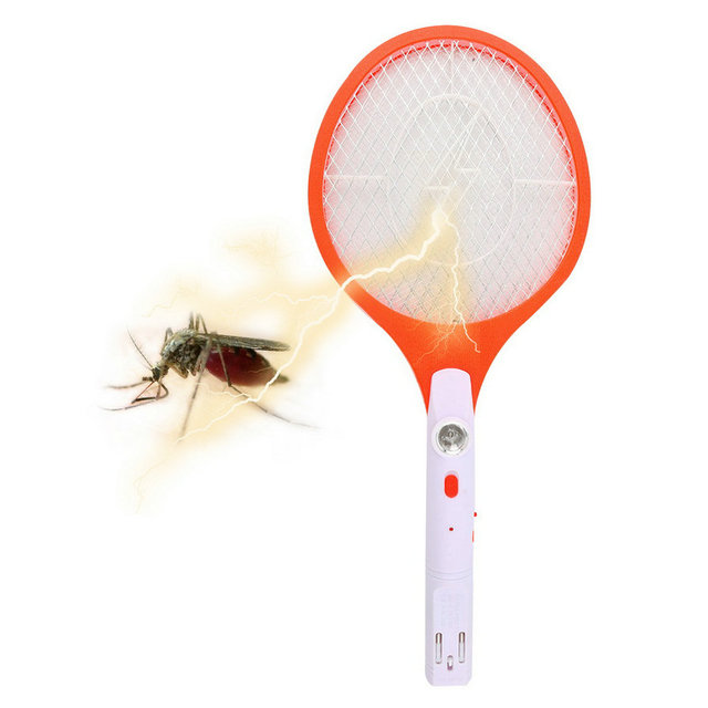 1pcs Hot Worldwide Rechargeable LED Electric Insect Bug Fly Mosquito Zapper Swatter Killer Racket 3-layer Net Safe