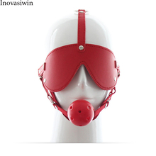 New SEX Couple toy flirting bondage red mouth eye-catching sexy leather mask for women in Adult games couple
