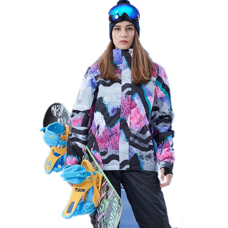 GSOU SNOW Ski Jacket Women's Winter Waterproof windproof keep warm Snowboard Jacket Ski Suit Outdoor Ladies sport Clothes coat gsou snow waterproof ski jacket women snowboard jacket winter cheap ski suit outdoor skiing snowboarding camping sport clothing
