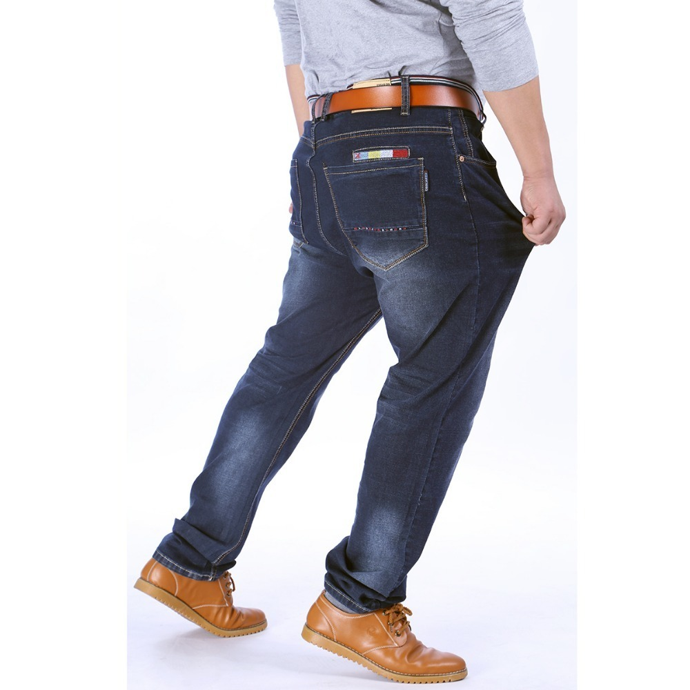 2017 nouvelle Haute Stretch Plus La Taille 9XL 8XL 7XL 6XL 5XL Jeans Noir Denim Affaires Jean Daffaires Travail Pantalon
