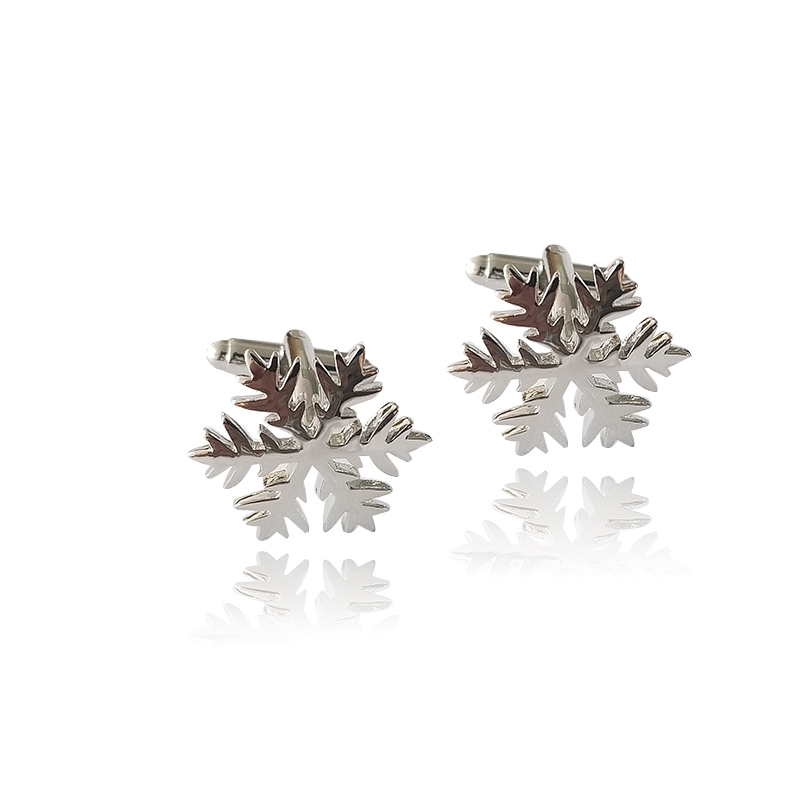 1pair Romantic Silver Color Snowflake Alloy Cuff Button Christmas Gifts Decoration Mens Shirt Cufflink Buy One Get One Free Jewelry & Accessories