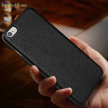 MAKEULIKE Genuine Leather Back Case For iPhone 7 8 Plus Cover Luxury Litchi Pattern Phone Bags Cases 7/8