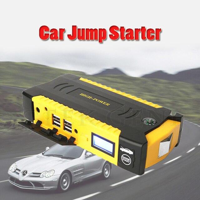STOCK IN RUSSIA! 12V Car Battery Charger Petrol Diesel Car Jump Starter 4 USB Harden Shell Warning Light 16000mAh Free Ship