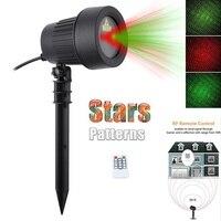 Outdoor Garden Decoration Waterproof IP65 Christmas Laser Light Star Projector Showers Red Green Static Twinkle Laser