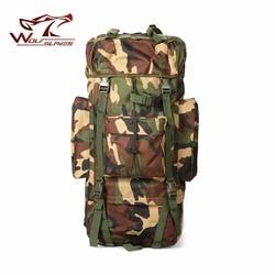 65L taktyczne wspornik metalowy torba 2018 mężczyźni plecak we wzór maskujący wielofunkcyjny wodoodporny nylonowe torby