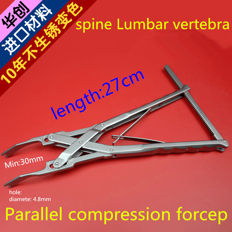medical orthopedic instrument spine Lumbar vertebra Parallel compression forcep Vertebral Press apparatus screw rod system AO medical small animal orthopedics instrument kit 59 tool set veterinary 0 5 18kg pet 1 5 2 0 2 4 2 7 screw bone plate install ao