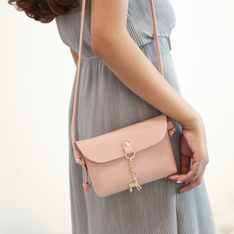 Casual Travel Pu Leather Women Handbag Small Mini Pink Messenger Bags for Deer Toy Female Phone Wallet Shoulder Bags