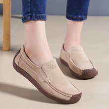 Spring/Summer Women's Shoes Suede Leather Women Casual Shoes Fashion Soft Light  Loafers Slip-On Low Flat Shoes Women Sneakers suede low top slip on sneakers