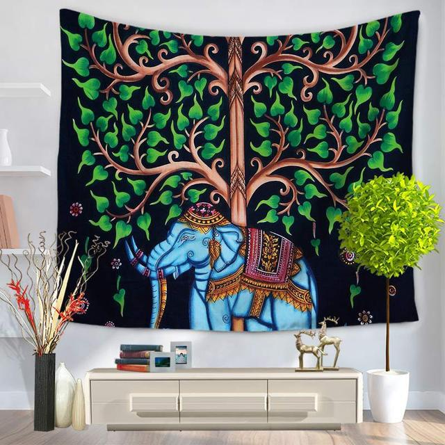 Us 20 09 Indian Mandala Tapestry Wall Hanging Painting Tree Mandala Tapestry Wall Blankets Sheets Table Cloth Hippie Tapestry Tapiz Pared In