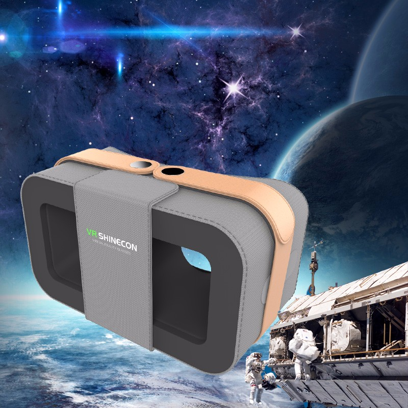 Cdragon Shinecon VR 360 Viewing Immersive Virtual Reality 3D VR Headset Google Cardboard Games Glasses +Remote Controller