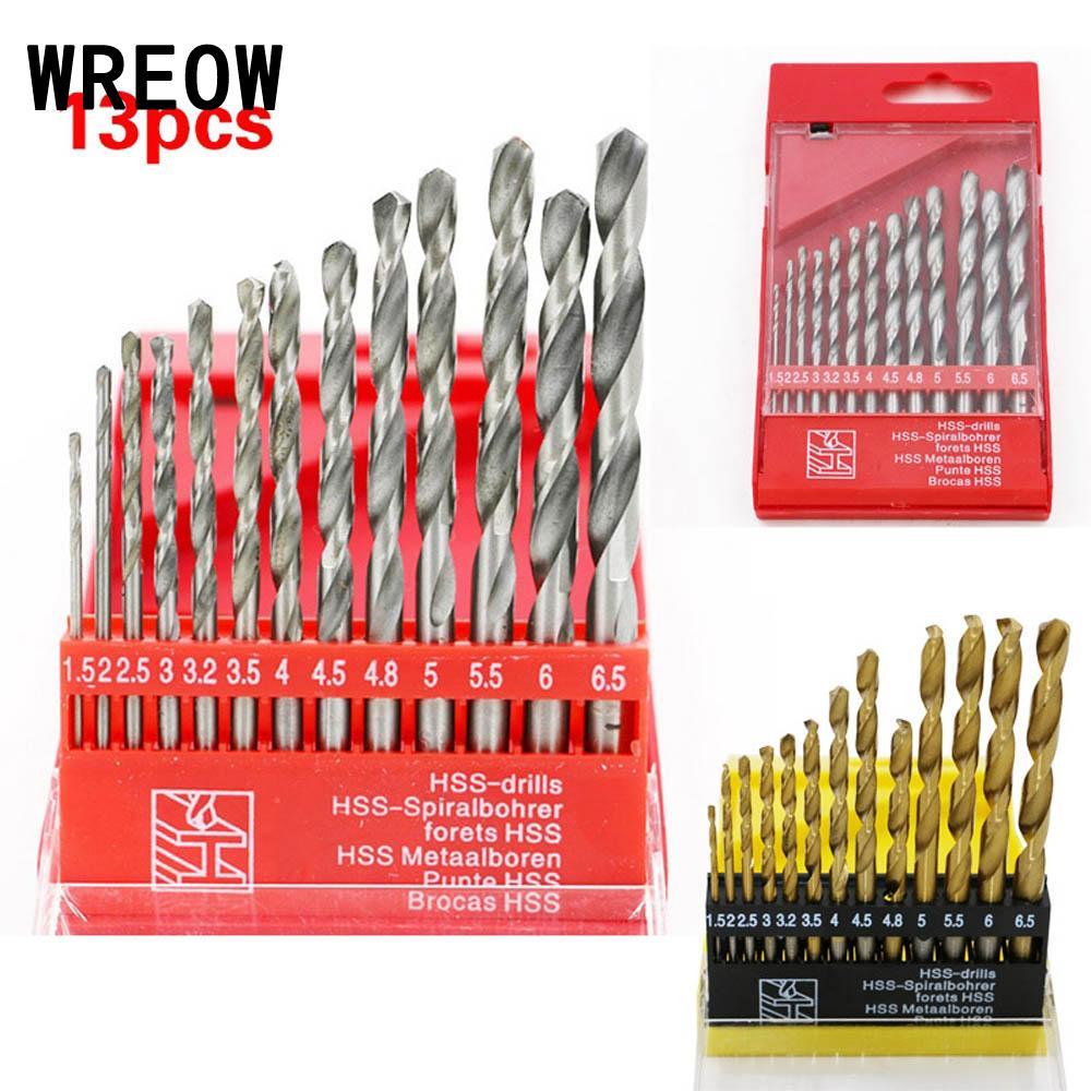 6.5mm For Metal Wood Plastic 13pcs HSS High Speed Bit Steel Drill Set 1.5mm
