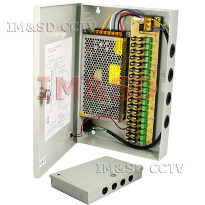 ФОТО CCTV SECURITY CAMERA POWER Supply Distribution Box 12V DC 18ch 10 Amps