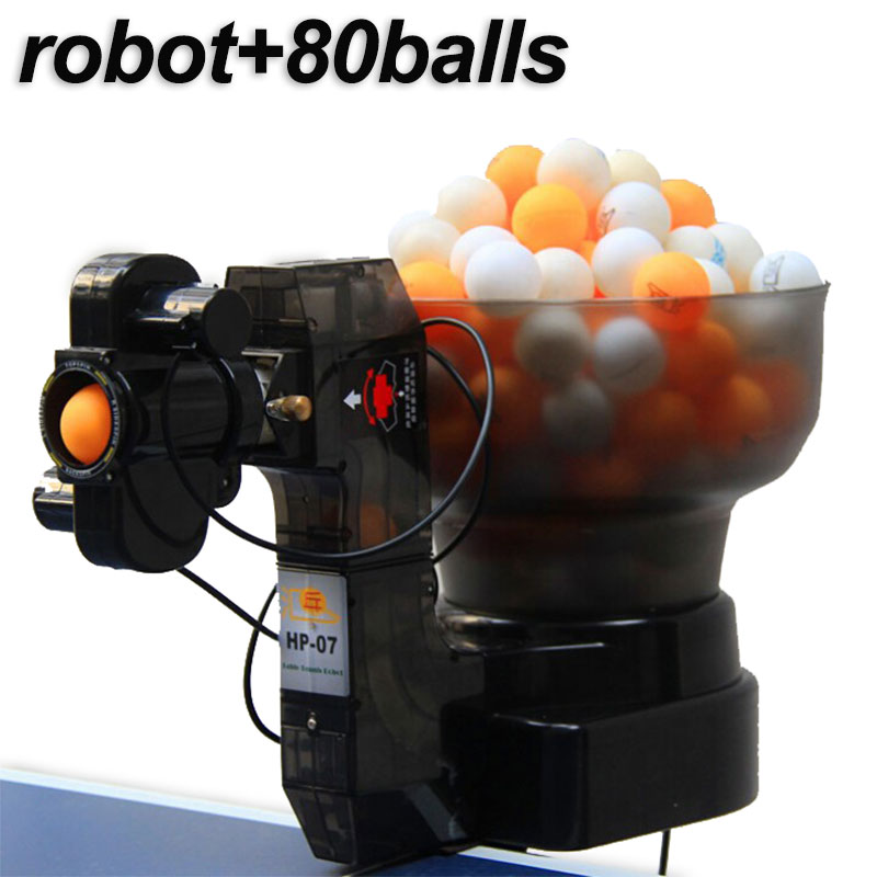 Professional Table Tennis Robot Ping Pong Machine Portable Economical Multifunctional Robots (free 80pcs Balls Fast Shipping)