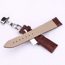 Kol Saati Women Men Watch Band Strap Butterfly Pattern Deployant Clasp Buckle+Leather Watchband Mira La Banda 18-24mm