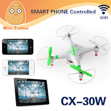 Minitudou New Cheerson FPV CX30W CX-30W Quadcopter Wifi Phone Control Helicopter 2.4G 6 Axis Drones With Camera HD