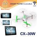 novo cheerson fpv cx-30w quadcopter telefone wifi controle helicóptero 2.4g 6 eixos drones com câmera hd