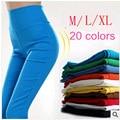 Nuevo 2015 Del Otoño Del Resorte de Las Mujeres Pantalones Elásticos Pantalones Lápiz Mujeres Pantalones Flacos Del Color Del Caramelo legging Pantalones para las mujeres G0416