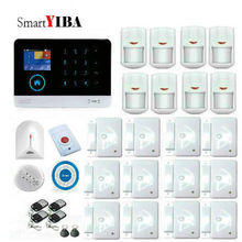 SmartYIBA IOS Android App Remote Control Network Alarm System GSM Wireless WIFI Alarm Kits With Smoke