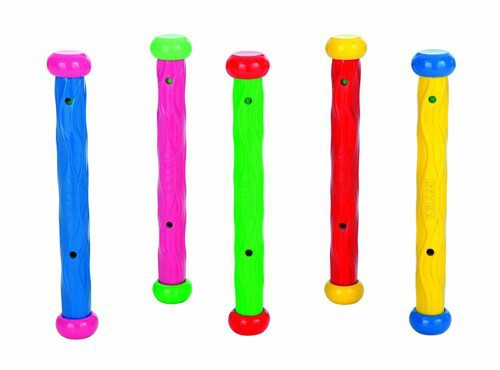 INTEX SWIMMING POOL FUN Toy DIVE DIVING STICKS SET Summer Kids Water Toys Activity 5 MULTI COLOR