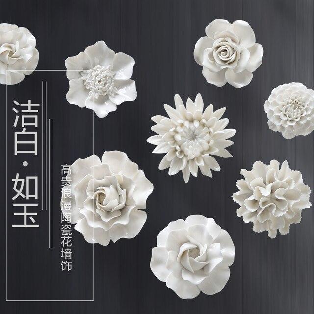 Белый Пион Роза декоративные настенные цветок посуда фарфор декоративные тарелки старинные домашнего декора ремесленных ремесел украшения комнаты