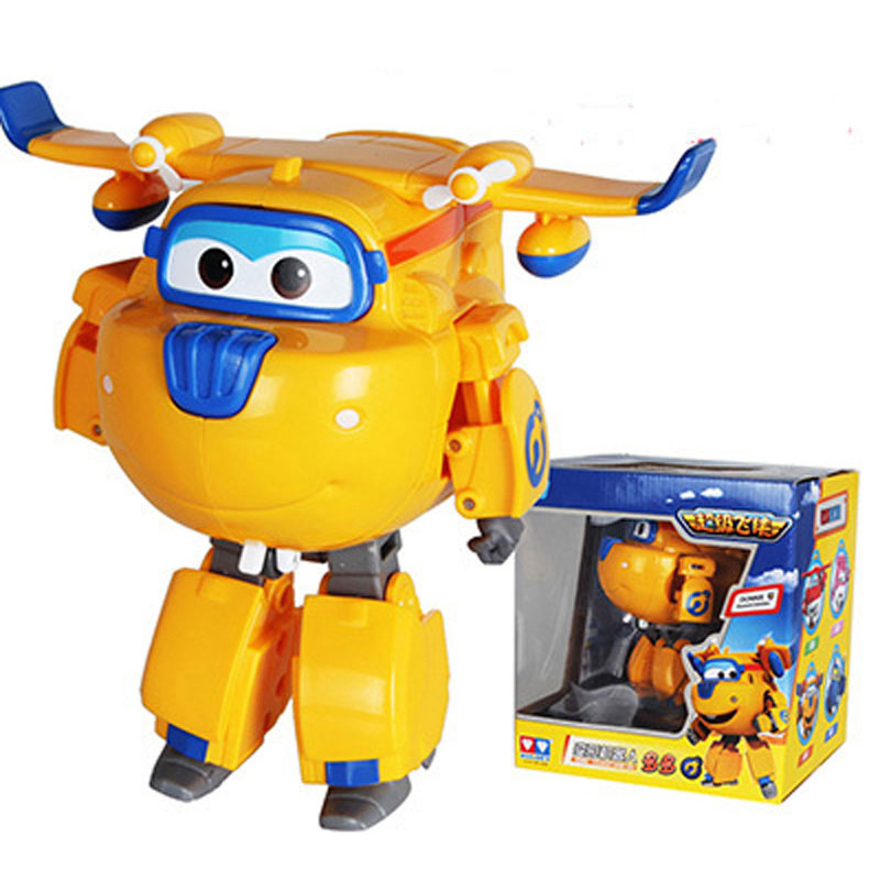 15cm Donnie Super Wings Big Size Planes Transformation Robot Action Figures Toys Super Wing Mini Jett Toy For Christmas Gift
