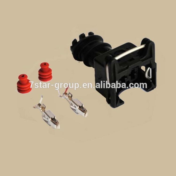 Free shipping 200 sets EV1 282762 1 car waterproof 2pin Connector automobile fuel Injector spray nozzle