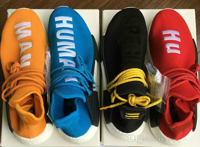2018 Real Qualty Boost Human Race Factory Yellow Red Green Black Orange Men women  Pharrell Williams X Human Race Running Shoes b0f2fdd711