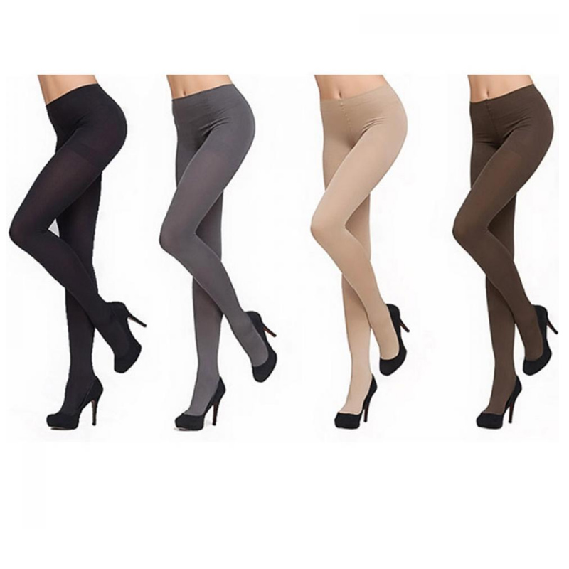 Fashion Women Stockings Anti-hook Wire High Quality Pantyhose 120D Winter Thick Women Velvet Warm Solid Color Stockings