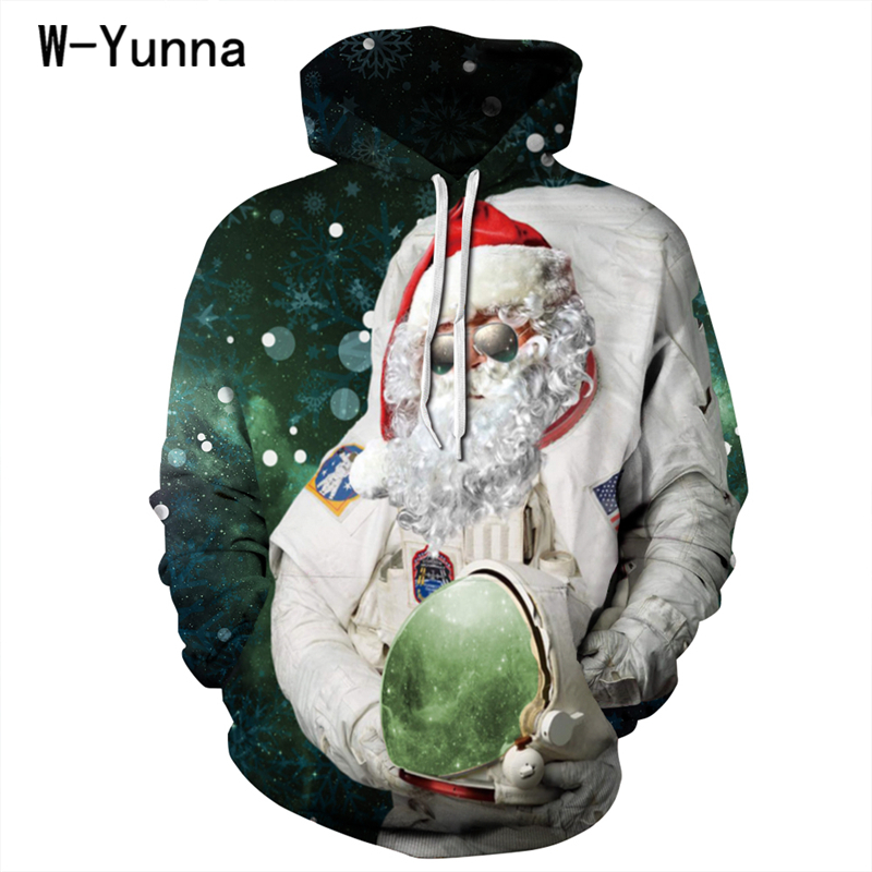 Harajuku 3D Print Christmas Hoodies Men/Women Sweatshirt Hooded 3d Brand Clothing Cap Hoody Print Thin Loose Leisure Jacket