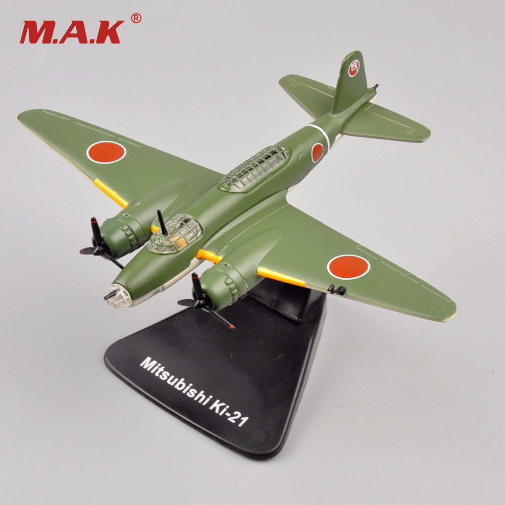 1/144 Scale Diecast Airplanes Atalas Mitsubishi Ki-21 Bomber Fighter Aircraft Model Toys Kids Gifts Collections image