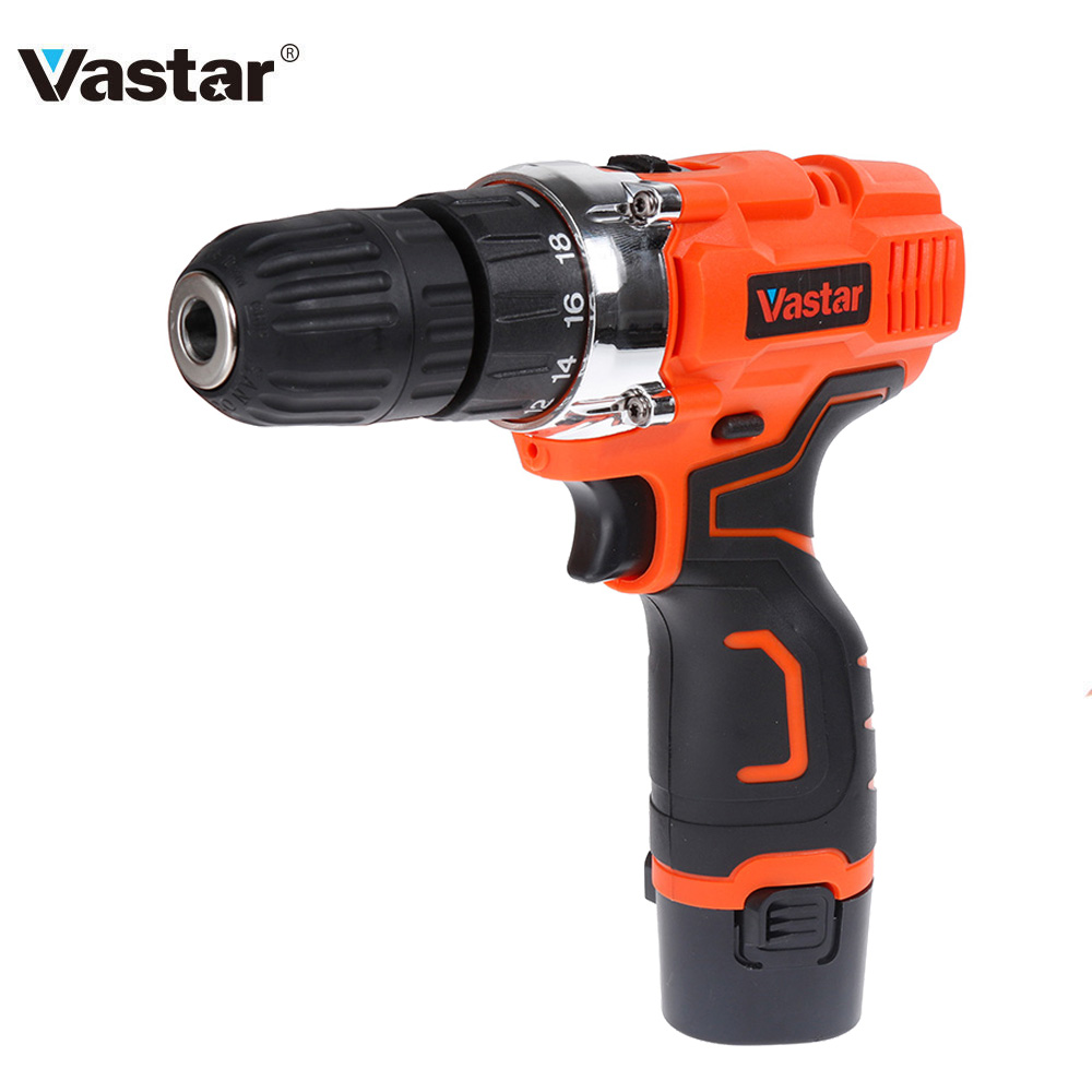 vastar 12v electric drill driver power tools dual speed cordless