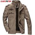 LONMMY M-6XL Cotton mens jaquetas e casacos de homem jaqueta Militar Do Exército mens jaqueta Bomber homens roupas de marca casaco windbreakerWinter
