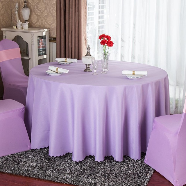 Wholesale 10pcs Lot Hotel Banquet White Solid Polyester Round Table Cloth Restaurant Red Gold Table Cover Party Decor Tablecloth In Tablecloths From