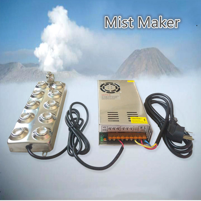 220V Household And Commercial Ultrasonic Mist Maker Fogger 10 Head Humidifier 4 5kg H Atomizer