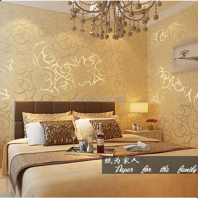 Rose floral papel de parede pvc del vinilo en relieve papeles de la pared para sala.jpg