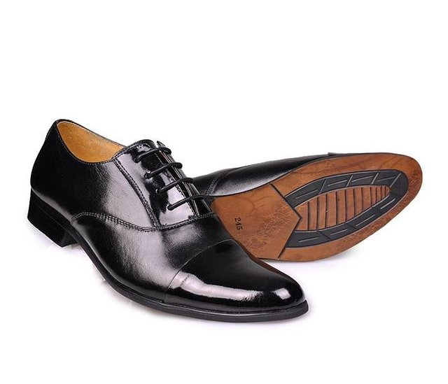 9908 -Black leather  hot sale Oxford shoes for men  shows special taste