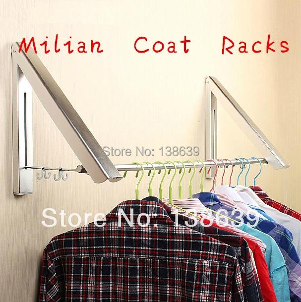 ФОТО Free Shipping Home Furniture fashion wall hanger folding drying rack Living Room Coat Rack Hidden Multifunctional Clothes Hanger