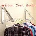 Free envio home mobiliário moda parede cabide dobrável rack de secagem cabideiro sala escondida roupas multifuncionais cabide
